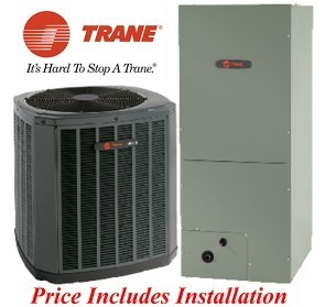Trane 2 Ton 16.5 SEER  Heat Pump  with Variable Speed Air Handler
