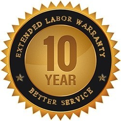 10 Years Labor Warranty