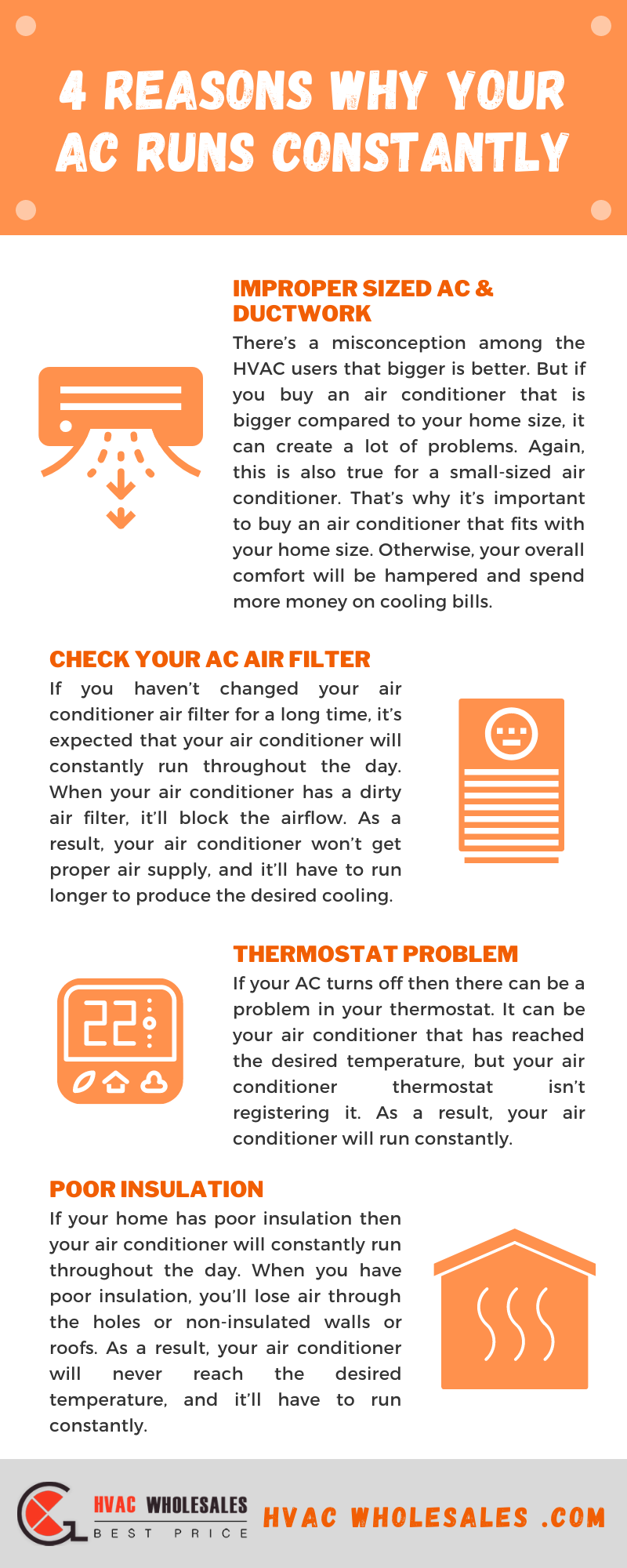 4 Reasons Why Your AC Runs Constantly