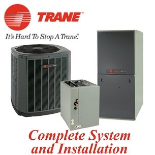 Trane 3 ton XR17 Seer Two Stage Gas System With  Installation
